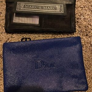Dior and Marc cosmetic bags